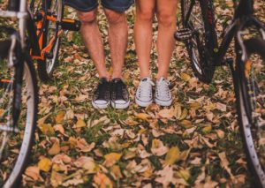 healthy male and female legs